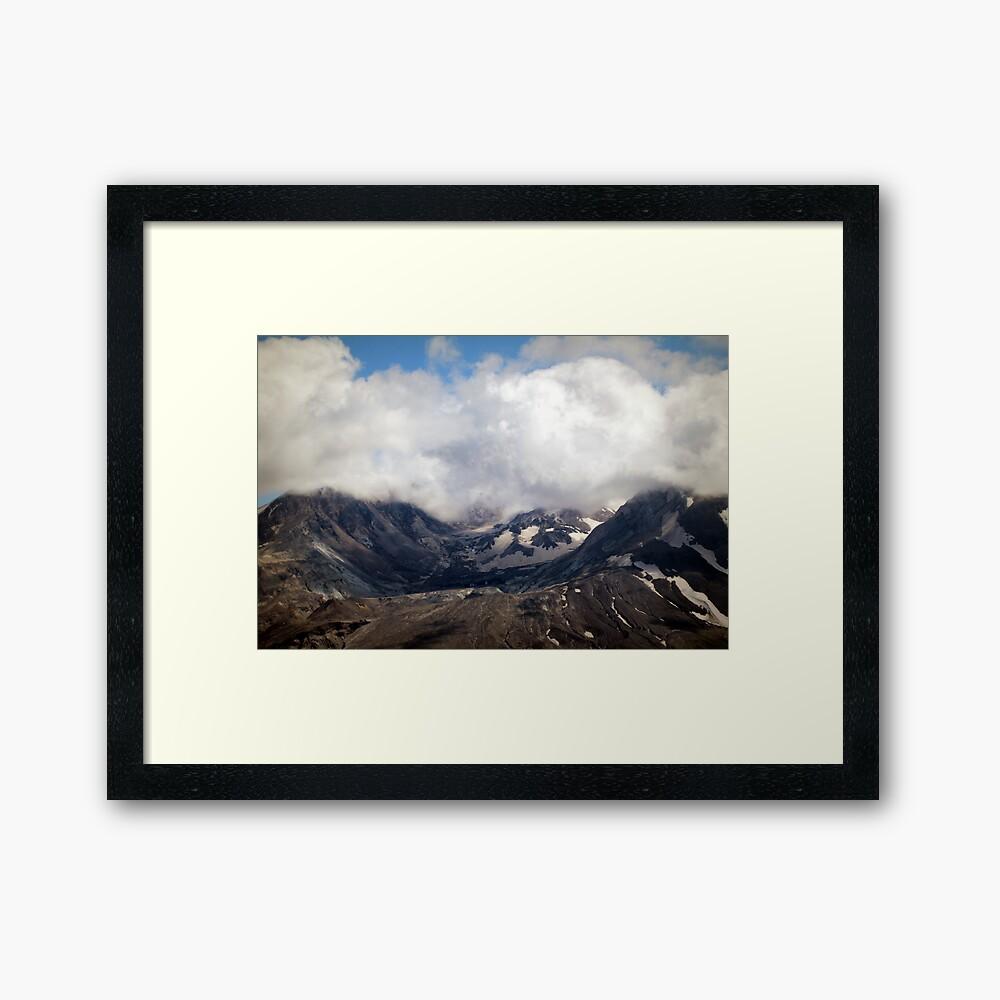 Mount St Helens lava dome Framed Art Print