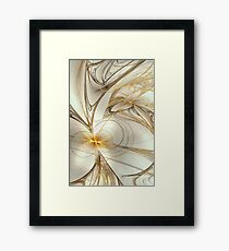 Silver & Gold Framed Print