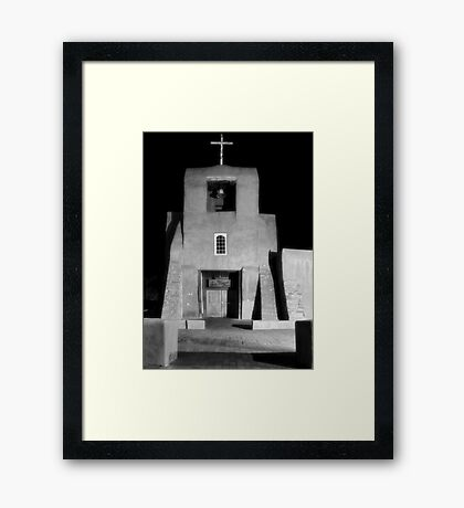San Miguel Mission, Santa Fe, in Infrared Framed Print