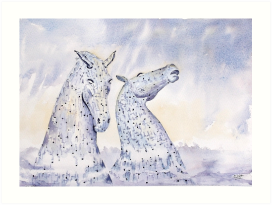 Water Kelpies by Pat  Elliott