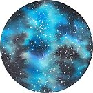 Watercolor Galaxy – Cyan by Stevie Driscoll