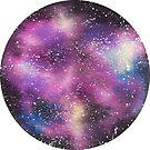 Watercolor Galaxy – Magenta by Stevie Driscoll