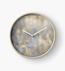 herbal dreamland in gold Clock