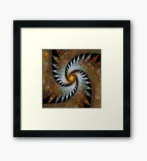 'Origami Spiral Universe' Framed Print