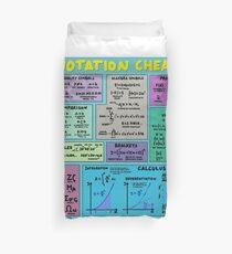 Mathematics Notation Cheat Sheet Duvet Cover