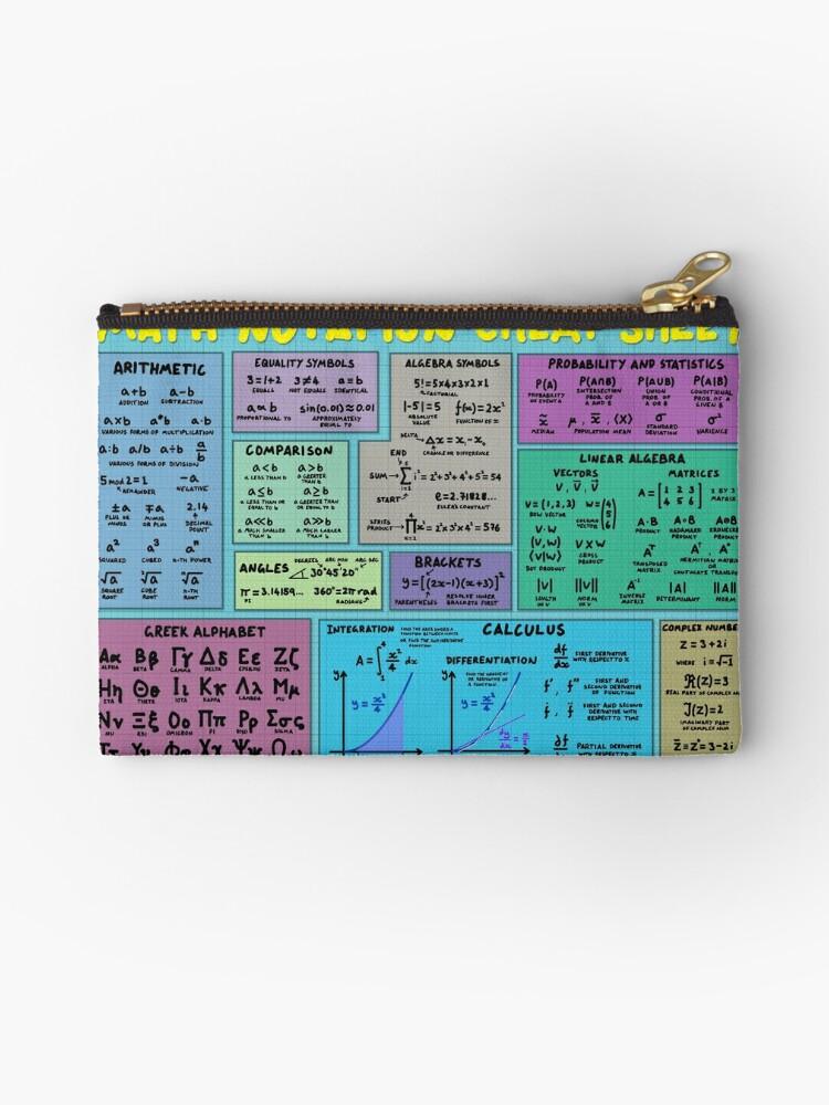 Bolsos de mano «Hoja de trucos de notación matemática» de ...