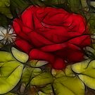 Stained Glass Rose by Andi Hardwick