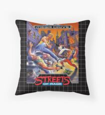 Streets of Rage Mega Drive/Genesis Cover Throw Pillow