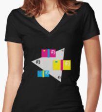Dawsh Stacks (light) Women's Fitted V-Neck T-Shirt