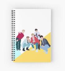 Retro Boyband Spiral Notebook