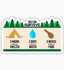 Rules to survive in nature Sticker