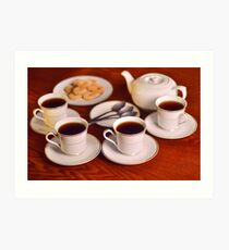 Tea with friends  Art Print