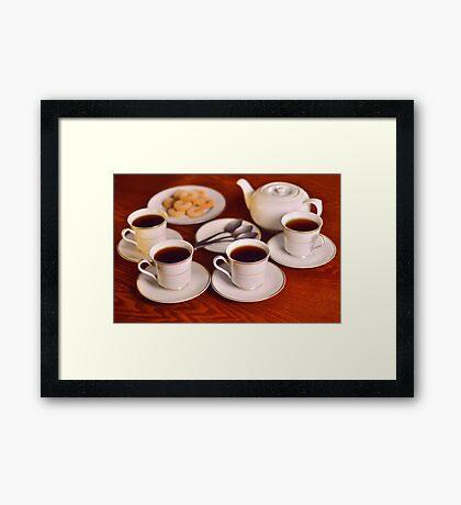Tea with friends  Framed Print