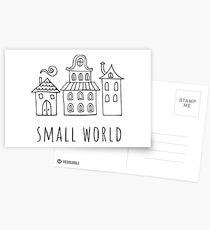 small world Postcards