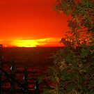 A Canadian Sunset.... for fence lovers... by Larry Llewellyn