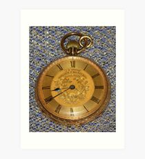 Grandpa's Gold Pocket Watch Art Print