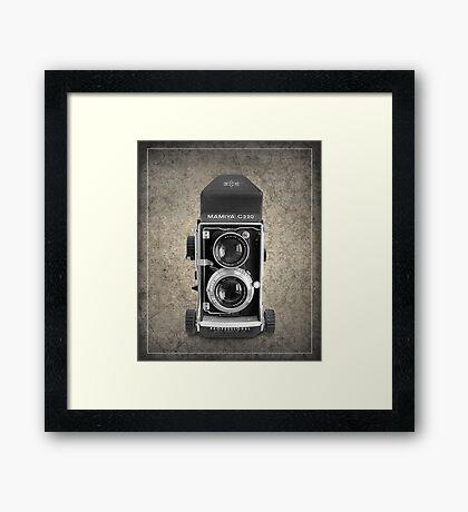 Mamiya C220 - Vintage Black and White Framed Print