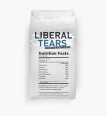 SPECIAL funny Liberal/Democrat Tears From the Salt Mines Logo with supplement facts - Online Store Duvet Cover