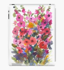 My Red Hollyhock Garden iPad Case/Skin