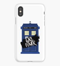 Girl Power Tardis {Doctor Who} iPhone Case