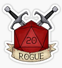 D&D - D20 - Rogue Sticker