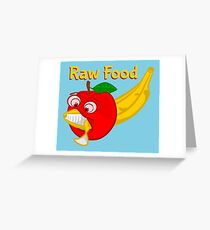 Raw Foods Food Fight Greeting Card