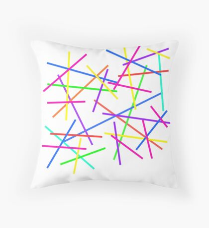Pick-Up Sticks Throw Pillow