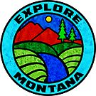 Explore Montana Mountains Woods Forest Glacier Yellowstone National Park by MyHandmadeSigns