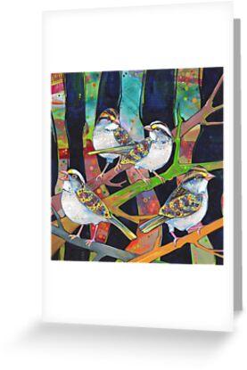 Weiß-throated Spatzen, die malen - 2012 von Gwenn Seemel