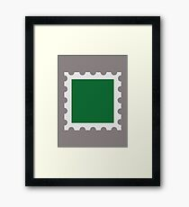 Green stamp Framed Print