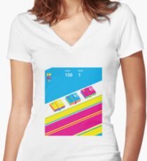 Dawsh Women's Fitted V-Neck T-Shirt