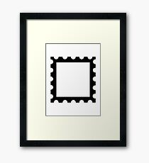 Post stamp Framed Print