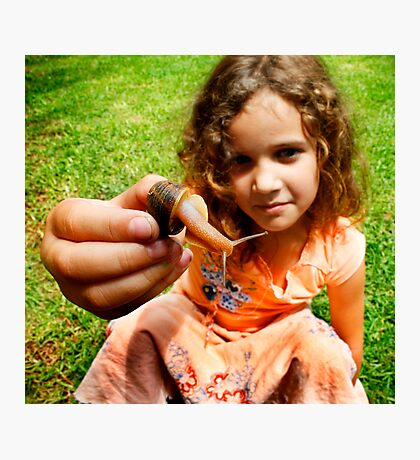 Grace and the snail Photographic Print