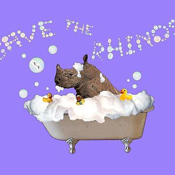 Splish Splash, Rhino Taking a Bath! by DILLIGAF