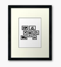 Stamp collection Framed Print