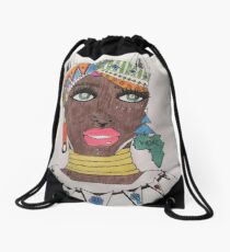 The Black Panther is Female  Drawstring Bag
