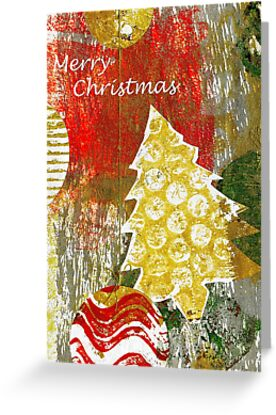 Xmas Card Design 105 in Traditional Colours by Heatherian