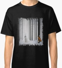 Calvin and Hobbes in Snow Classic T-Shirt