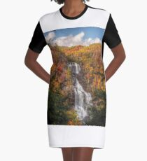 Mid October at Whitewater Falls Graphic T-Shirt Dress