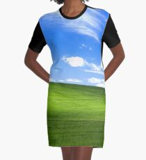 Windows XP Wallpaper Graphic T-Shirt Dress