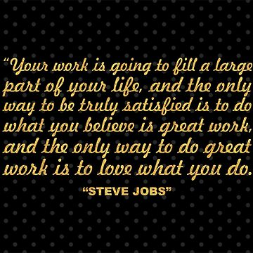"""Your work is going to... """"Steve Jobs"""" Inspirational Quote (Wide) by Powerofwordss"""