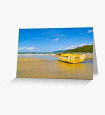 Boat on the sand - Yarrabah - Queensland - Australia Greeting Card