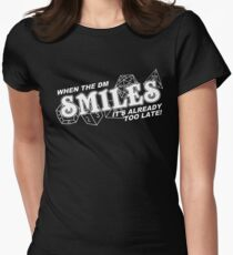 When the DM Smiles White Womens Fitted T-Shirt