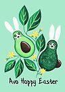 Avo Hoppy Easter   Avocado Easter Bunnies by makemerriness