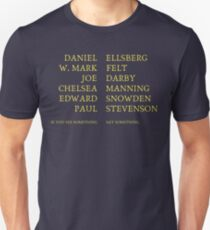 If You See Something, Say Something (yellow text) Unisex T-Shirt