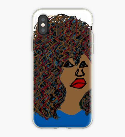 Curlyhair Curly Girl Brown Haut Rötliche natürliche Haar-Königin iPhone-Hülle & Cover