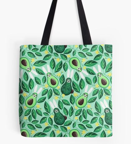Avo Hoppy Easter | Avocado Easter Bunnies Tote Bag