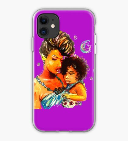 Natural Hair Flawless Curls Mother Daughter iPhone Case