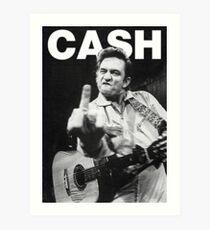 Lámina artística Johnny Cash con Logo