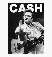 Johnny Cash mit Logo Fotodruck